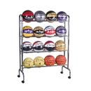 Champion Sports CHSBRC4 Portable Ball Rack 4 Tier Holds 16 - Balls