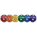 Champion Sports CHSSRB4SET Soccer Ball Set/6 Rubber Size 4