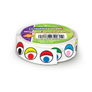 Chenille Kraft CK-34031 Wiggle Eyes Stickers On A Roll - Multi-Color