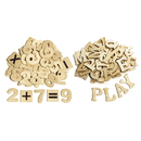 Chenille Kraft CK-3623 Wood Letters & Numbers