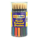 Chenille Kraft CK-5168 Colossal Round Wood Handle Brush Assortment-Multi