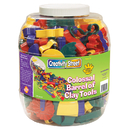 Chenille Kraft CK-5604 Colossal Barrel Of Clay Tools 144 Cutters & 5 Tools