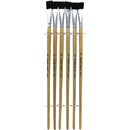 Chenille Kraft CK-5936 Black Bristle Easel Brush 6-Set 1/2 W X 1 L