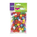 Chenille Kraft CK-811601 Glitter Pom Poms Bag Of 80 1/2 In