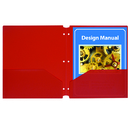 C-Line Products CLI32934 C-Line Red 25Ct Two Pocket Poly Portfolios With Three-Hole Punch