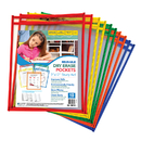 C-Line Products CLI40610 C Line Reusable 10Pk 9X12 Dry Erase - Pockets Assorted Primary