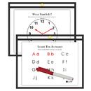 C-Line Products CLI40711 C Line 9X12 Blk Reusable Dry Erase - Pockets