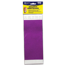 C-Line Products CLI89109 C Line Dupont Tyvek Purple Security - Wristbands 100Pk