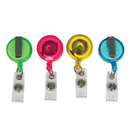 C-Line Products CLI89210 C Line 4 Pk Translucent Colors - Retracting Id Card Reel