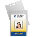 C-Line Products CLI89723 C Line 12Pk Poly Vert Id Badge - Holders