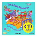 Childs Play Books CPY9781904550679 Ten Little Monkeys 8X8 Book With Cd