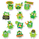 Creative Teaching Press CTP2109 St Patricks Day Owls Reward Stickers