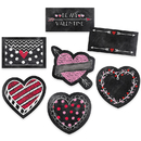 Creative Teaching Press CTP6076 6In Chalk Hearts Designer Cut Outs