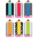 Creative Teaching Press CTP6228 Striped/Spotted Pencil Cut Outs