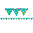 Creative Teaching Press CTP7144 Dots On Turquoise Pennant Border