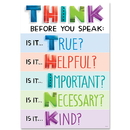 Creative Teaching Press CTP8584 Think Before You Speak Inspire U Poster