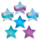 Creative Teaching Press CTP8661 Shimmering Stars Cut Outs 6 In Mystical Magical