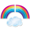 Creative Teaching Press CTP8662 Rainbows And Clouds Cut Outs 6 In