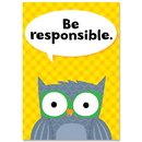 Creative Teaching Press CTP8693 Be Responsible Woodland Friends Inspire U Poster