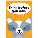 Creative Teaching Press CTP8695 Think Before U Act Woodland Friends Inspire U Poster