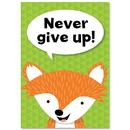 Creative Teaching Press CTP8696 Never Give Up Woodland Friends Inspire U Poster