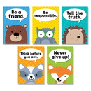 Creative Teaching Press CTP8697 Woodland Friends Charac Traits 5Pk Inspire U Posters