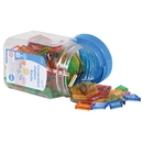 Learning Advantage CTU22108 Transparent Pattern Blocks Mini Jar