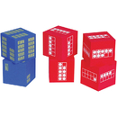 Learning Advantage CTU7297 Ten Frame 6 Foam Dice 4 Red  2 Blue