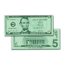 Learning Advantage CTU7519 $5 Bills Set 100 Bills