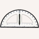 Learning Advantage CTU7591 Dry Erase Magnetic Protractor
