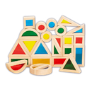 Learning Advantage CTU9360 Rainbow Blocks Set Of 24