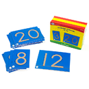 Didax DD-211211 Tactile Sandpaper Number Cards 0-20