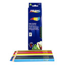 Dixon Ticonderoga DIX25120 Prang Lg Triangular Colored Pencils - 12 Color Set