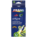Dixon Ticonderoga DIX28112 Prang Groove Colored Pencils 12 Ct