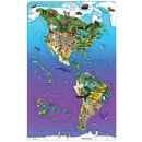 Dowling Magnets DO-734100 Wildlife Puzzle North South America