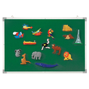 Educational Insights EI-1033 3-In-1 Flannel/Magnetic/Wipe-Off Board