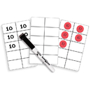 Essential Learning Products ELP626645 Write On Wipe Off Ten Frame Cards