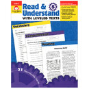 Evan-Moor EMC3445 Read And Understand With Leveled - Texts Gr 5