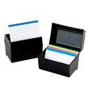 Esselte ESS01351 Oxford Plastic Index Card Box 3X5