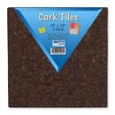 Flipside FLP12058 12X12 Dark Cork Squares 4 Pk