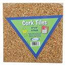 Flipside FLP12066 Cork Tiles 6In X 6In Set Of 4