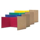 Flipside FLP6004524 Corrugated Study Carrel Assort 24Pk