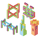 Geomagworld Usa GMW159 Magicube Classroom Set 128 Blocks