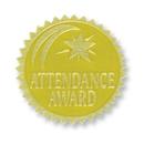 Flipside H-VA375 Gold Foil Embossed Seals Attendance - Award