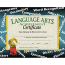 Hayes School Publishing H-VA585 Certificates Language Arts 30/Pk Achievement 8.5 X 11