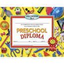 Hayes School Publishing H-VA606 Diplomas Preschool 30/Pk 8.5 X 11 Red Ribbon
