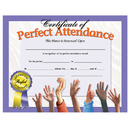 Hayes School Publishing H-VA613 Certificates Perfect Attendance 30 Pk 8.5 X 11 Inkjet Laser