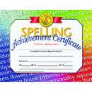Hayes School Publishing H-VA676 Spelling Achievement 30/Pk 8.5X11 Certificates Inkjet Laser