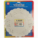 Hygloss Products HYG10081 Doilies 8 White Round 100/Pk