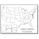 Hygloss Products HYG30147 United States Map Poster
